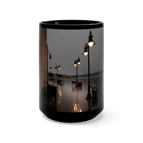 Waterfront Black Mug 15oz