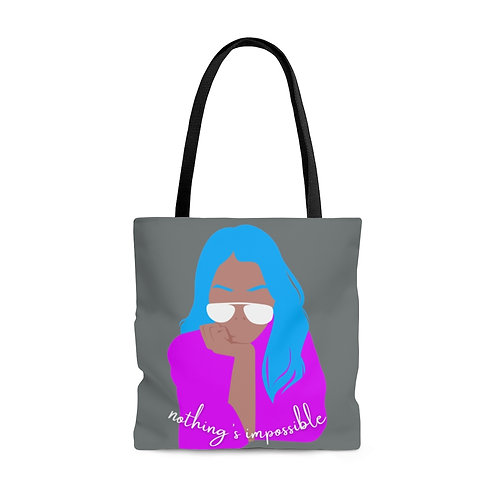 Nothing's Impossible AOP Tote Bag