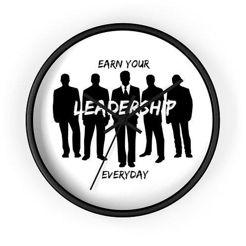Earn Your Leadership Wall clock
