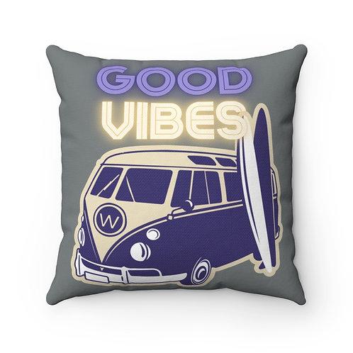 Good Vibes Spun Polyester Square Pillow