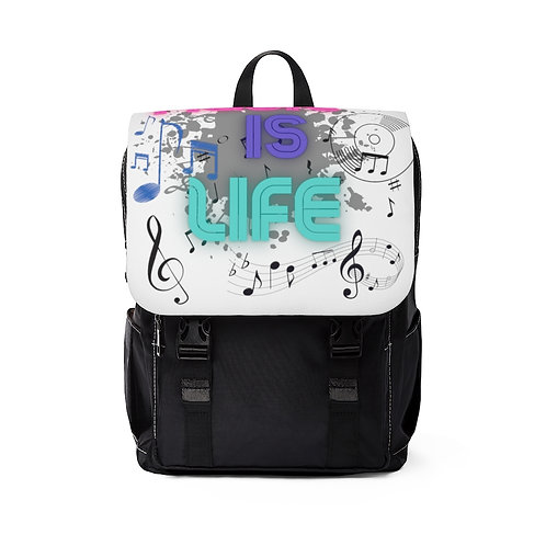 Music is Life Unisex Casual Shoulder Backpack