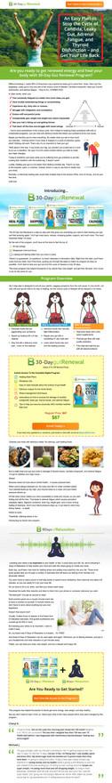 30-Day Gut Renewal Landing Page