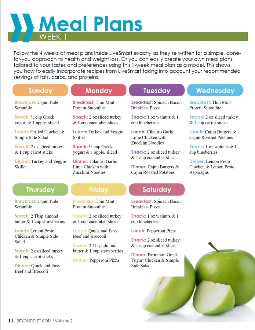 LiveSmart Meal Plan