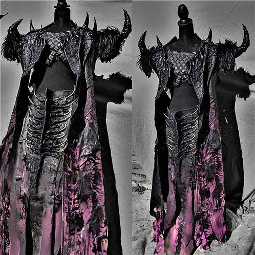 SAVAGE Horned Robe and Boned Battle Skirt