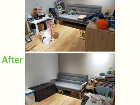 【客廳整理】讓孩子遊戲區更安全寬敞😙