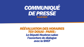 RÉÉVALUTATION DES DESSERTES TGV DOUAI - PARIS