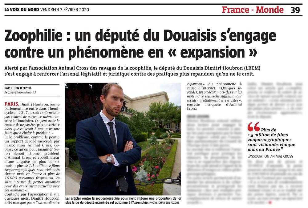 """Zoophilie : un député du Douaisis s'engage contre un phénomène en """"expansion"""""""
