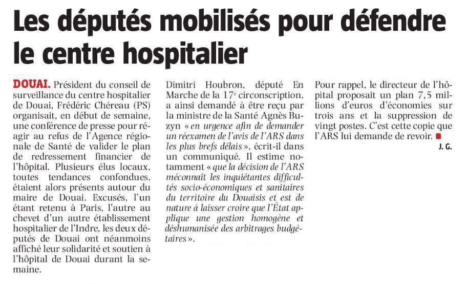 Les députés mobilisés pour défendre le centre hospitalier