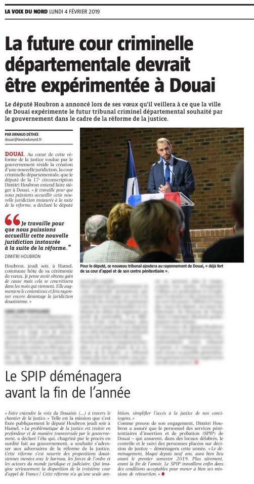 La future cour criminelle départementale devrait être expérimentée à Douai
