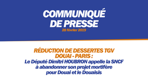 RÉDUCTION DE DESSERTES TGV DOUAI - PARIS