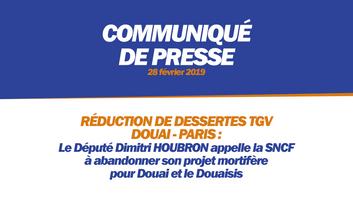 RÉDUCTION DE DESSERTES TGV DOUAI - PARIS
