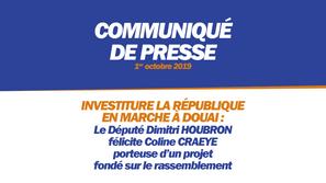 INVESTITURE LA RÉPUBLIQUE EN MARCHE À DOUAI