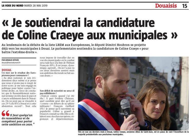Je soutiendrai la candidature de Coline Craeye aux élections municipales