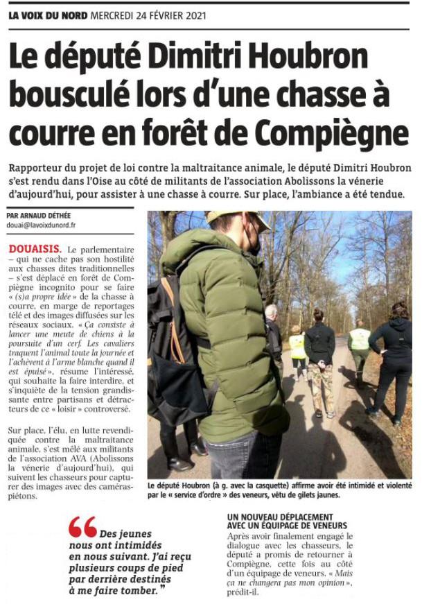 Le député Dimitri Houbron bousculé lors d'une chasse à courre en forêt de Compiègne