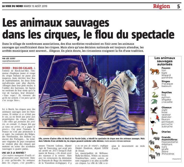 Les animaux sauvages dans les cirques, le flou du spectacle
