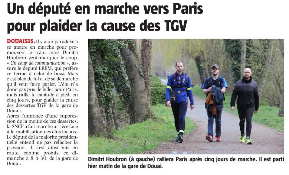 Un député en marche vers Paris pour plaider la cause des TGV
