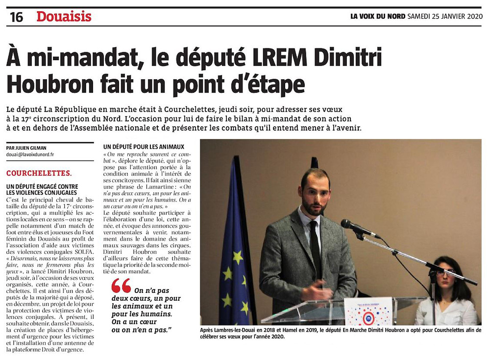À mi-mandat, le député LREM Dimitri Houbron fait un point d'étape