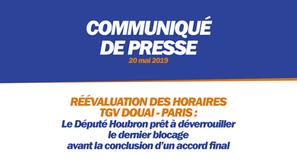 RÉÉVALUTATION DES HORAIRES TGV DOUAI - PARIS