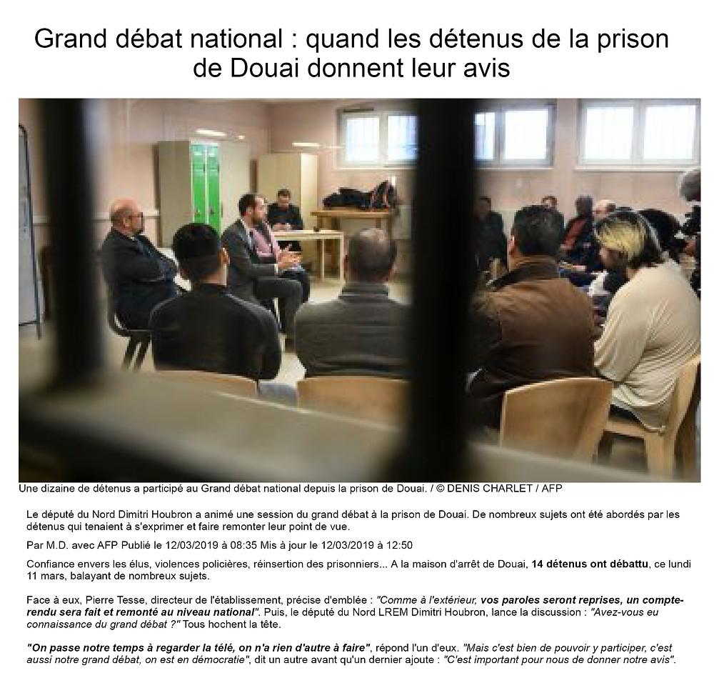 Grand débat national : quand les détenus de la prison de Douai donnent leur avis