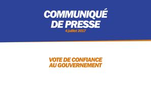 VOTE DE CONFIANCE AU GOUVERNEMENT
