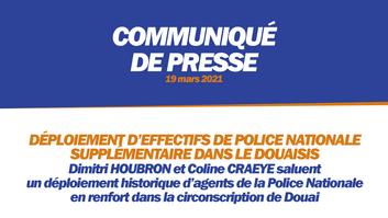 DÉPLOIEMENT D'EFFECTIFS DE POLICE NATIONALE SUPPLÉMENTAIRE DANS LE DOUAISIS