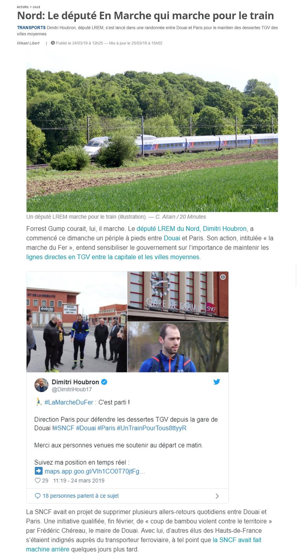 Le député En Marche qui marche pour le train