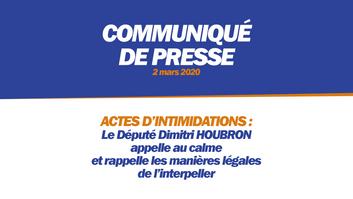 ACTES D'INTIMIDATIONS