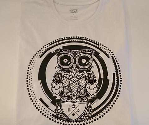 Skratch Society White Owl Logo Tee