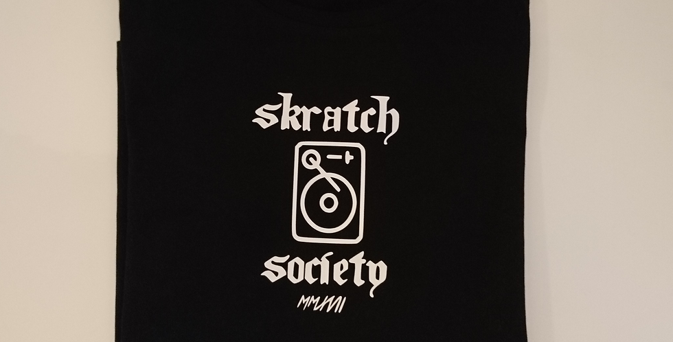 Skratch Society Black Turntable Logo Tee
