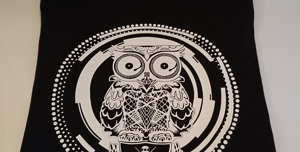 Skratch Society Black Owl Logo Tee