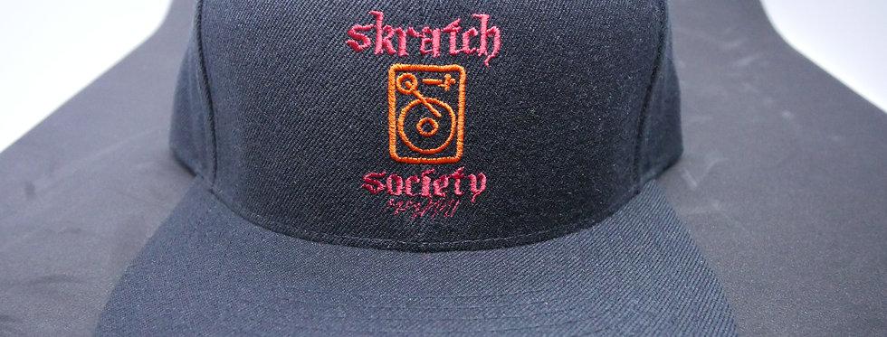 Skratch Society Black and Red Logo Snapback
