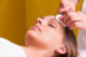 Woman is having cosmetic treatment at be