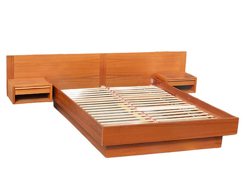 Danish Teak Queen Bed Frame by Jesper