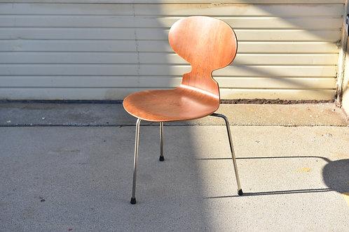 Original! vintage Arne Jacobsen's Ant chair, 60s, teak 3 legs
