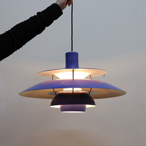 Vintage Louis Poulsen PH5 pendant lamp in blue