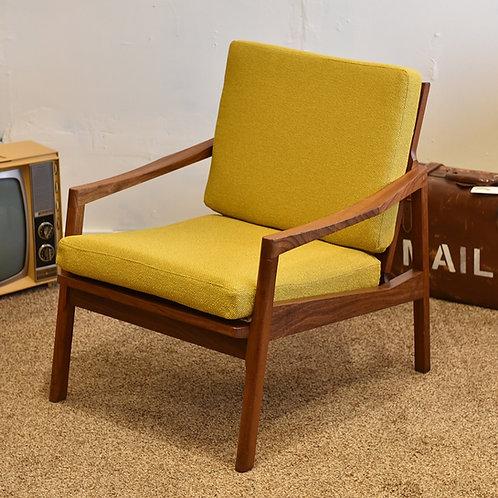 Vintage MCM Teak Lounge Chair by Walter Nugent