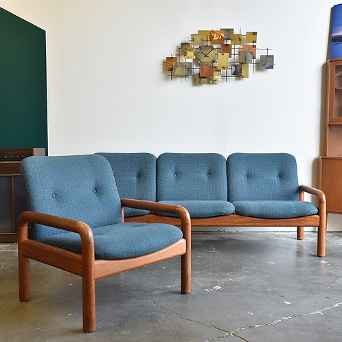 Vintage Mid-Century Modern Teak Sofa & Lounge Chair Set