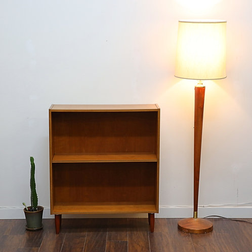 Vintage Walnut Floor Lamp