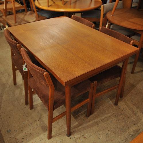 Vintage Danish Mid Century Modern Teak Dining Table