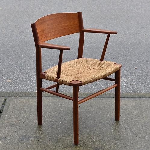 Danish Modern Teak Armchair Model 157 by Borge Mogensen for Soborg