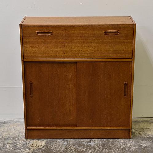 Simple design, teak writing desk + storage unit