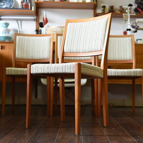Pair, Swedish MCM Teak Dining Chairs