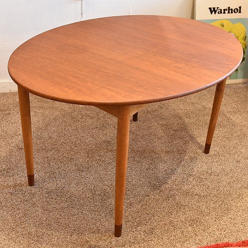 Rare Danish Modern Oval Dining Table