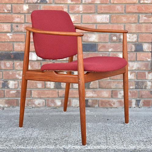 Danish Modern Teak BO92 Armchair by Arne Vodder for Bovirke
