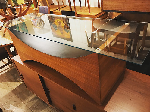 Mid Century Modern Teak Glass Top Coffee Table by R.S. Associates, Montreal