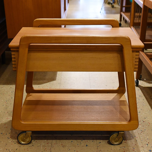 Danish Teak Mobile Sewing Cart/Trolley by Sika Mobler