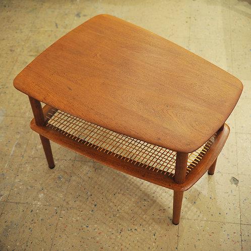 Solid Teak Danish Modern End Tables Designed by Peter Hvidt