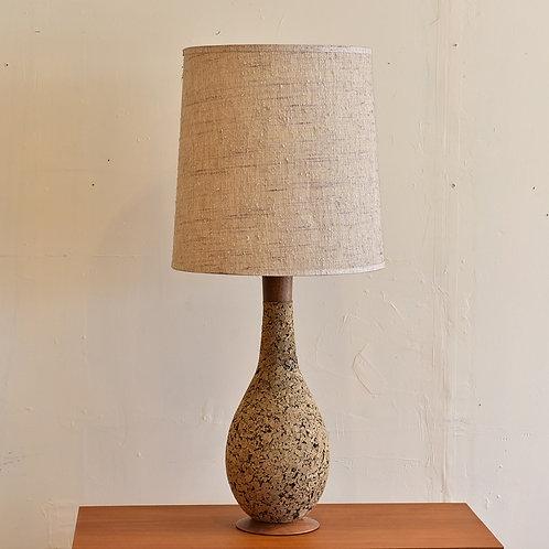 Vintage MCM Cork Table Lamp