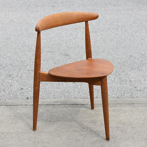 "Danish Mid Century Modern ""Heart Chair"" by Hans Wegner for FH"