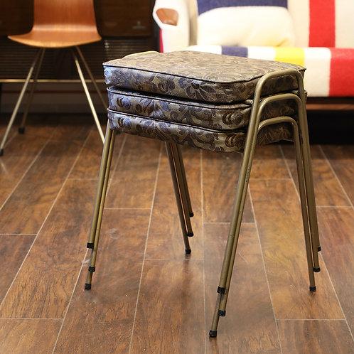 Vintage metal stools.